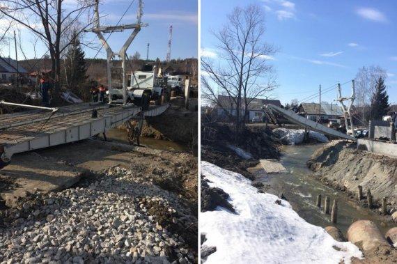 Спасатели МЧС построили мост для жителей четырех поселков Источник: http://sibkray.ru/news/1/933985/